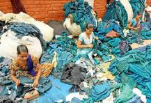 Losing ground: Shoddy blankets are being edged out by polyester ones, which are cheaper, warmer and last longer. The number of shoddy textile units in Panipat has come down to 150 from around 700 in 2012.